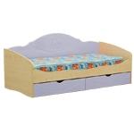 Интернет-магазин мебели - Кровать Софа-4 Клен+Голубой