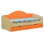 Интернет-магазин мебели - Кровать Софа-4 Клен+Оранжевый