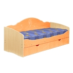Интернет-магазин мебели - Кровать Софа-5 Клен+Оранжевый