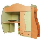 Интернет-магазин мебели - Детская Дельфин-4 Клен+Оранжевый+Желтый