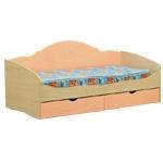 Интернет-магазин мебели - Кровать Софа-4 Клен+Персиковый