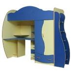 Интернет-магазин мебели - Детская Дельфин-4 Клен+Синий+Желтый