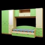 Интернет-магазин мебели - Модульная детская Буратино Клен+Ваниль+Эвкалипт