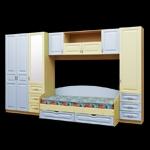 Интернет-магазин мебели - Модульная детская Буратино Клен+Ваниль+Голубой