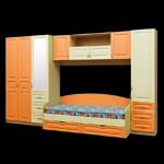Интернет-магазин мебели - Модульная детская Буратино Клен+Ваниль+Оранжевый