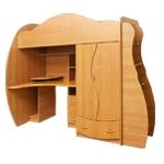 Интернет-магазин мебели - Детская Дельфин-3 Вишня оксфорд