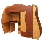 Интернет-магазин мебели - Детская Дельфин-3 Вишня Оксфорд+Яблоко